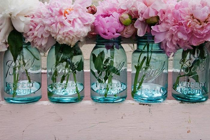 vaze de sticla cu flori