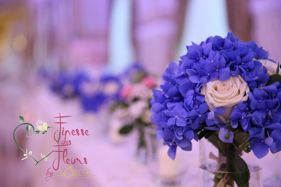 Nunta In Nuante De Albastru Si Roz Loreen Mariage