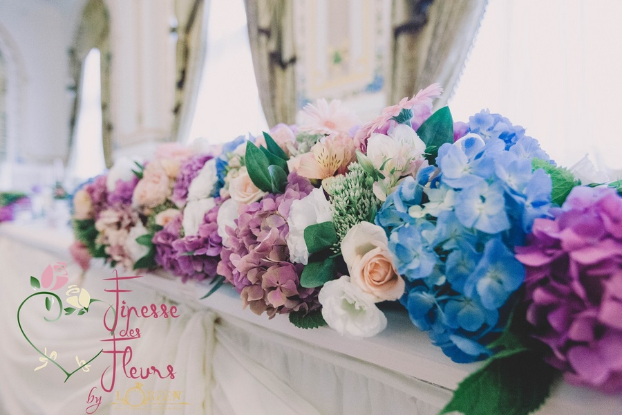 Nunta In Nuante De Roz Albastru Si Piersica Loreen Mariage